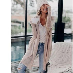 SAVANNAH Pocketed Long Cardigan